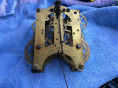 Antique Ansonia American Clock Parts, Movement For Spare Repair