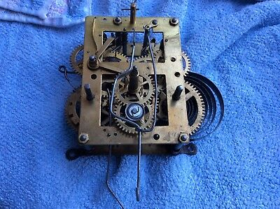 Small Vintage Clock Parts, Movement For Spare Repair