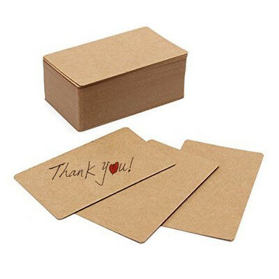 100pcs Blank Kraft paper Business Cards Word Card Message Card DIY Gift Ca W9O2