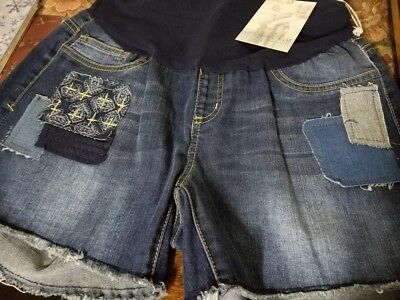 New Angel Kiss Distressed Maternity Jean Shorts Size S