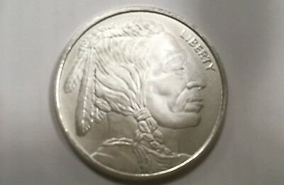 American Indian Liberty Buffalo Silver Round. One Troy Oz .999 Fine Coin