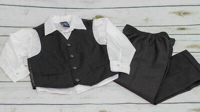 Nautica Vest, Shirt & Suiting Pants Set Size 5 - Black & White