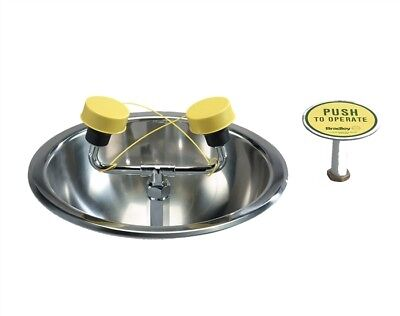 Bradley S19-260, Deck-Mounted Eye/Face Wash Unit, Stainless Steel Bowl