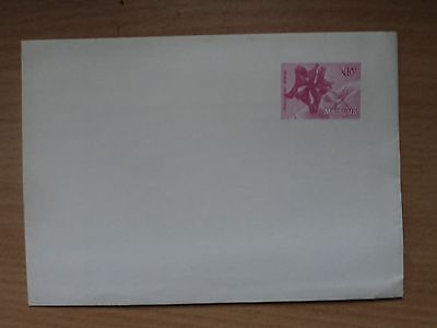 Malaysia Pre Stamped Envelope 15c 1979 Flowers definitive printed Pink Hibiscus