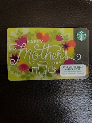 Happy Mothers Day Floral Unique Green STARBUCKS Gift Card FREE Shipping