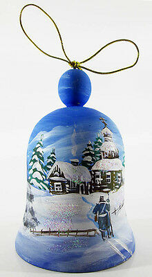 Beautiful Russian wooden bell Christmas decoration decor Hand painting #3