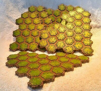 HEROSCAPE TERRAIN GRASS Replacement Lot Six 24 Hex Sections 144 Total Hexes
