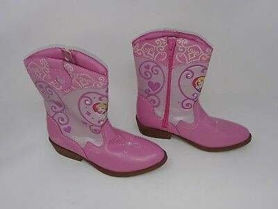 b8d7dbd8174 NEW W/DEFECT TODDLER Girl's Disney Princess Cowgirl Western Boots light  pink 14Z