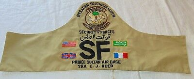 Operation Southern Watch security forces arm band Prince Sultan air base