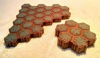 HEROSCAPE TERRAIN LOT Replacement Rock 24 And 7 Hex Sections 69 Total Hexes