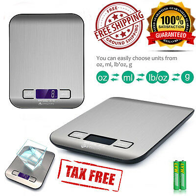 Electronic Digital Kitchen Scale Postage Scales shipping Mail Letter Package 11l