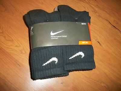 NWT/New in package boys Nike socks 6 pack BLACK size Youth M(shoe size 3-5)