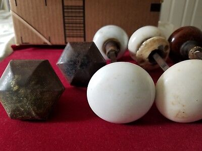 Lot Of 5, Assorted Vintage Door Knobs, Preowned