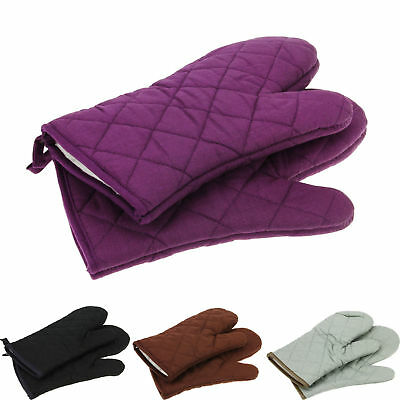 Cotton Thick Double Kitchen Baking Cook Insulated Padded Oven Gloves Mitt CU2