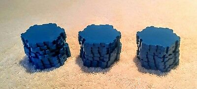HEROSCAPE TERRAIN LOT Replacement Sparkling Water 21 Single Hexes