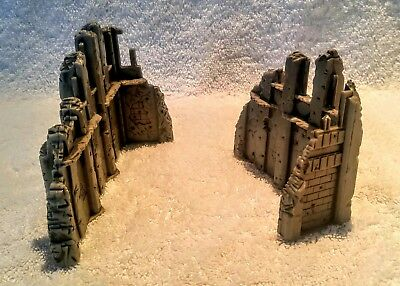 HEROSCAPE TERRAIN LOT Replacement Large and Small Ruins Castle Walls