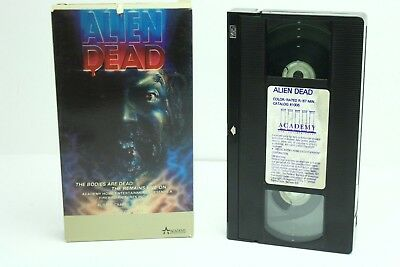 Alien Dead VHS on Academy Fred Olen Ray Horror Zombies Gore Low Budget Cult