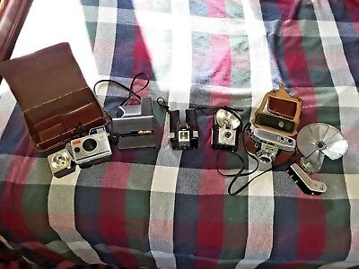 Vintage (5) Cameras And (2) Flash Equipment lot of