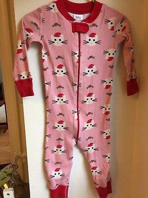 HANNA ANDERSSON 80 Toddler Girl Sleeper Pajamas Holiday 18-24 Months GUC Pink