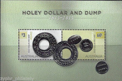 "Australia - ""COINS ON STAMPS ~ HOLEY DOLLAR & DUMP"" Special MNH MS 2013 !"
