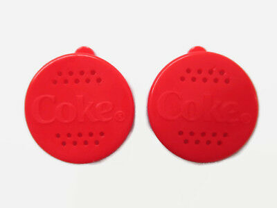Coca-Cola Salt and Pepper Shaker Set of 2 Lids to be Used with Bottles Red