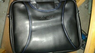 West 57th Street by Hilton Club Black Faux Leather? Padded Briefcase Carry-On