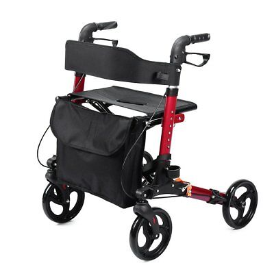 ELENKER Adult Rolling Walker Compact Folding Rollator with Comfortable 18.11x 9.
