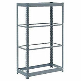 "Boltless Heavy Duty Shelving 48""W x 24""D x 60""H, 4 Shelves, No Deck, Lot of 1"