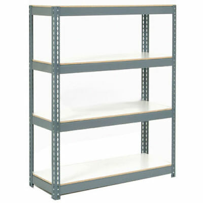 "Boltless Extra Heavy Duty Shelving 36""W x 12""D x 60""H, 4 Laminated Shelves,"