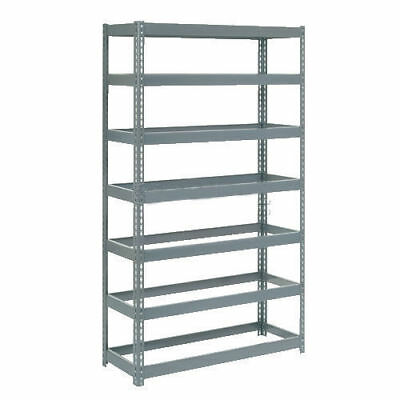 "Boltless Extra Heavy Duty Shelving 48""W x 24""D x 96""H, 7 Shelves, No Deck, Lot"