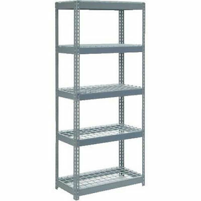 "Boltless Extra Heavy Duty Shelving 36""W x 18""D x 84""H, 5 Shelves, Wire Deck, Lot"