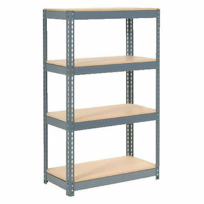 "Boltless Extra Heavy Duty Shelving 36""W x 24""D x 60""H, 4 Shelves, Wood Deck, Lot"