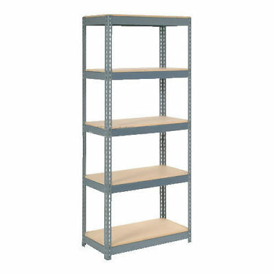 "Boltless Extra Heavy Duty Shelving 36""W x 12""D x 60""H, 5 Shelves, Wood Deck, Lot"