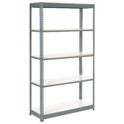 "Boltless Extra Heavy Duty Shelving 36""W x 12""D x 84""H, 5 Shelves, 1500 lbs."