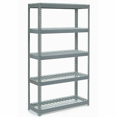 "Boltless Extra Heavy Duty Shelving 48""W x 24""D x 60""H, 5 Shelves, Wire Deck, Lot"
