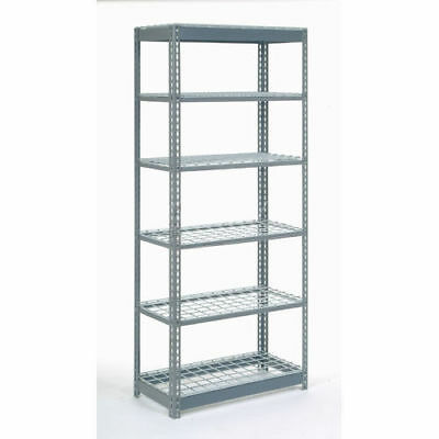 "Boltless Heavy Duty Shelving 48""W x 24""D x 60""H, 6 Shelves, Wire Deck, Lot of 1"