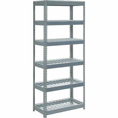 "Boltless Extra Heavy Duty Shelving 36""W x 12""D x 60""H, 6 Shelves, Wire Deck, Lot"