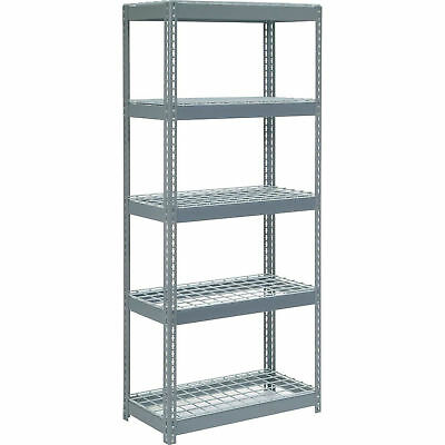 "Boltless Extra Heavy Duty Shelving 36""W x 24""D x 60""H, 5 Shelves, Wire Deck, Lot"