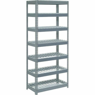 "Boltless Extra Heavy Duty Shelving 36""W x 18""D x 84""H, 7 Shelves, Wire Deck, Lot"