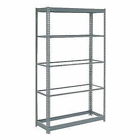 "Boltless Heavy Duty Shelving 48""W x 12""D x 72""H, 5 Shelves, No Deck, Lot of 1"