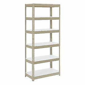 "Boltless Extra Heavy Duty Shelving 36""W x 12""D x 96""H, 6 Shelves, 1500 lbs."