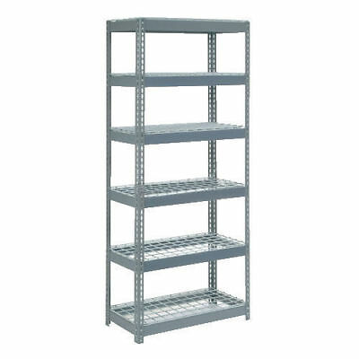 "Boltless Extra Heavy Duty Shelving 36""W x 24""D x 96""H, 6 Shelves, Wire Deck, Lot"