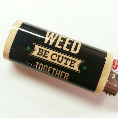 Weed Be Cute Together Lighter Case Holder Sleeve Cover Fits Bic Lighters