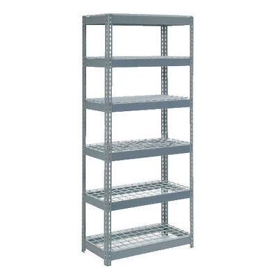"Boltless Extra Heavy Duty Shelving 36""W x 24""D x 72""H, 6 Shelves, Wire Deck, Lot"