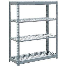 "Boltless Heavy Duty Shelving 48""W x 18""D x 72""H, 4 Shelves, Wire Deck, Lot of 1"