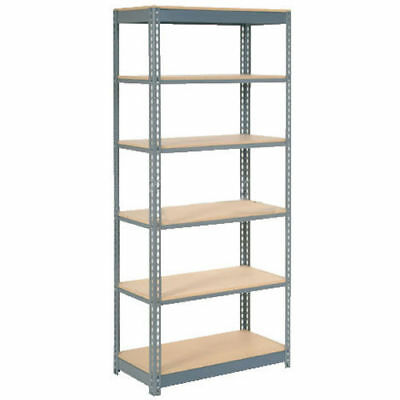"Boltless Heavy Duty Shelving 48""W x 12""D x 72""H, 6 Shelves, Wood Deck, Lot of 1"