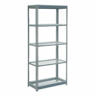 "Boltless Heavy Duty Shelving 48""W x 18""D x 72""H, 5 Shelves, Wire Deck, Lot of 1"