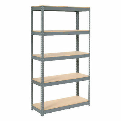 "Boltless Extra Heavy Duty Shelving 48""W x 12""D x 72""H, 5 Shelves, Wood Deck, Lot"