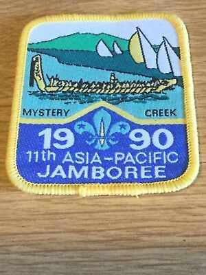 Boy Scouts Sew-on Badge 11th Asia-Pacific Jamboree 1990 Mystery Creek NZ