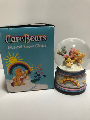 Vintage Care Bears Musical Snow Globe